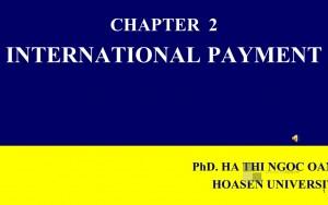 Bài giảng - International Payment