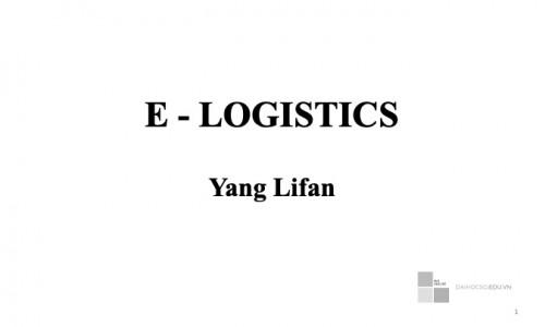 Giáo trình E - Logistics